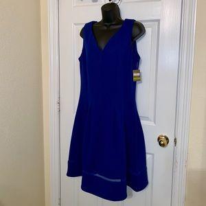 NWT!! Taylor Fit & Flare Cobalt Dress sz 14